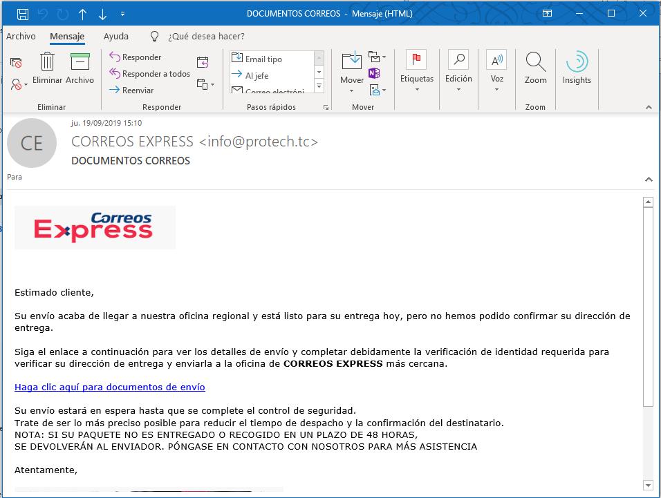 virus por email